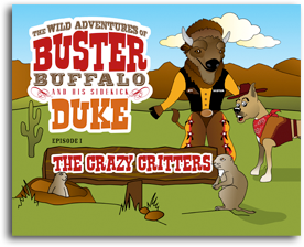 Buster and Duke Coloring Book